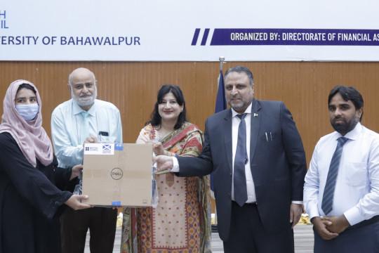 British Council Distributes 56 Laptops to IUB Female Students