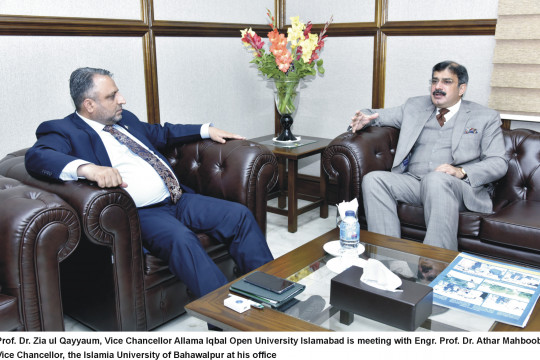 Vice Chancellor Called on Vice Chancellor, Allama Iqbal Open University, Islamabad