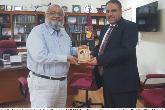 Worthy Vice Chancellor visits NED UET Karachi