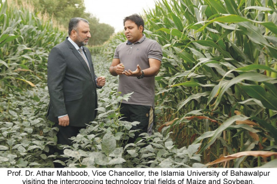The initiative of Prof. Dr. Athar Mahboob, Vice Chancellor for the Promotion of Agricultural Research at IUB