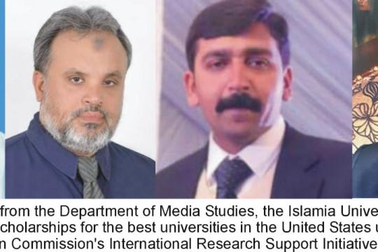 Four IUBIANS recieved scholorship of PhD for USA