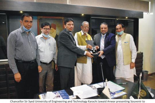 Worthy Vice Chancellor visits Sir Syed University of Engineering and Technology Karachi