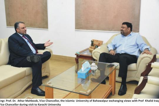 Worthy Vice Chancellor visits University of Karachi